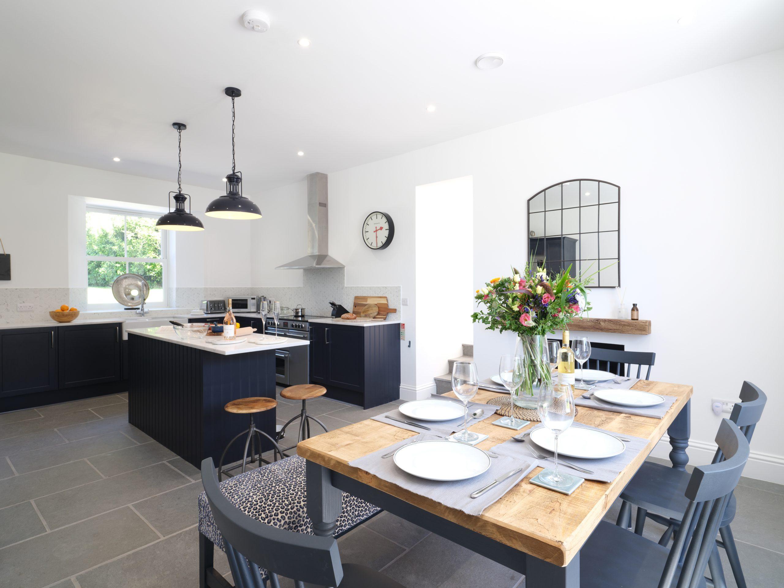 Drym House: Dining Area & Kitchen