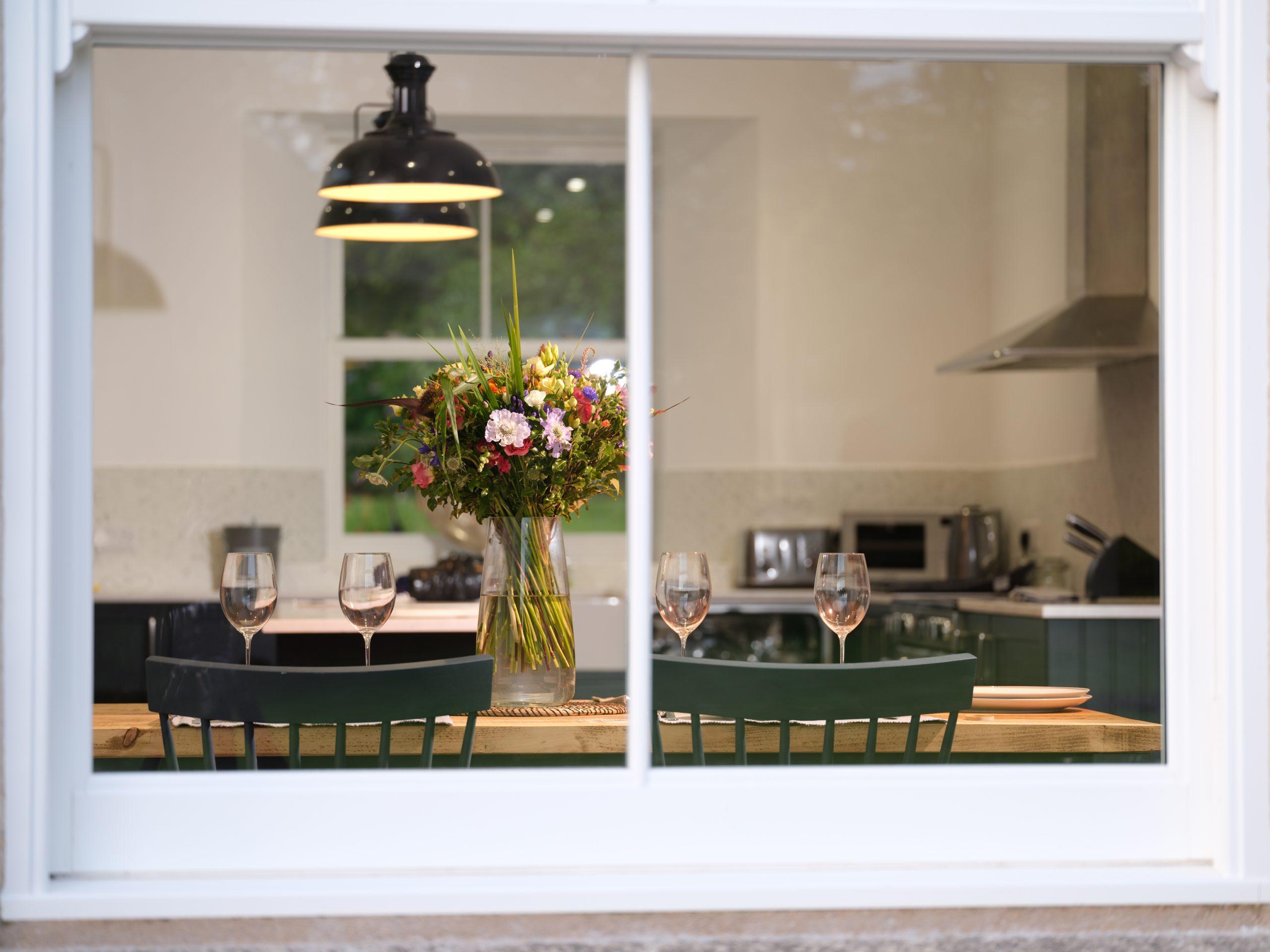 Drym House: Kitchen Window